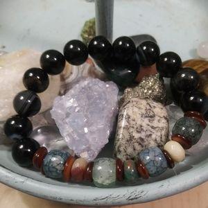 Agate & Onyx Stone  Energy Bracelet